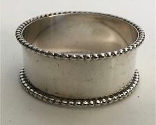 Antique Sterling Silver Beaded Rim Edge Napkin Ring