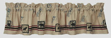 TIMBER TRAIL RUSTIC LODGE BEAR MOOSE FEEDSACK INDIA HOME FASHIONS VALANCE