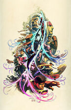 Super Street Fighter  Wall Poster - White Background  - 15 in x 24 in - HUGE