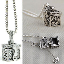 New Design Metal Urn Cremation Pendant Necklace Ash Holder Mini Keepsake Jewelry