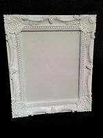 "WHITE BAROQUE ROCOCO FRENCH SHABBY CHIC VINTAGE 8""x10"" WALL PICTURE PHOTO FRAME"