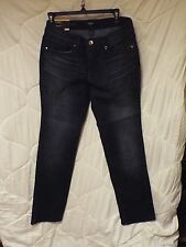 Nine West Size 12 Rosemary Straight Fit Denim Jeans Adele Bling Pockets NWT