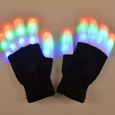 Cool LED Rave Flashing Gloves Glow Light Up Finger Lighting Christmas Dance Part