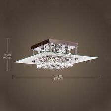 US Ship Modern Crystal 3W Ceiling Light Pendant Lamp Fixture Lighting Chandelier