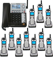 AT&T SB67138 6.0 4-Line SynJ Corded System 10 Cordless Phone SB67138 + 9 SB67108