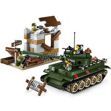 Building Blocks sluban Bricks Toys Military Army Vehicle Tank Aircraft Car Set
