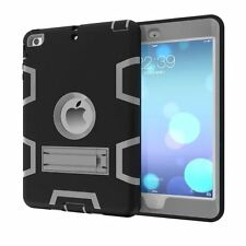 Rugged Tough Armor Heavy Duty Tough Hard Rubber Case Cover Stand for iPad Series