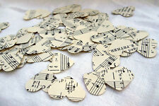 Vintage Sheet Music Hearts ~ Scrapbooking ~ Confetti