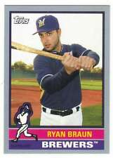 2015 Topps Archives Silver /199 #118 Ryan Braun (1976 Style Topps) Brewers