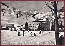 CUNEO LIMONE PIEMONTE 47 NEVE SCI SKI Cartolina FOTOGRAFICA viaggiata 1957