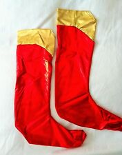 LADIES Superwoman boot socks/tops/covers, fancy dress costume accessories