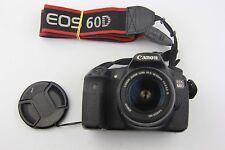 Canon EOS 60D 18.0MP Cámara Digital SLR-Negro con Lente de 50mm Buen Estado