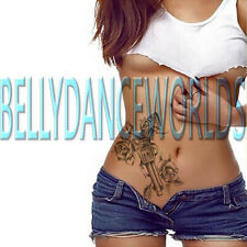 GUN AND ROSE ROSES TEMPORARY TATTOO ARM LEG THIGH SHOULDER BODY ART STICKER NEW