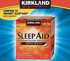 Kirkland Signature Sleep Aid, 25 mg., 192 Tablets