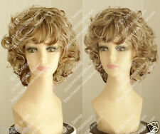 Wig Fashion Women Sexy Short Straight Brown Blond Cosplay Synthetic Hair Wig new