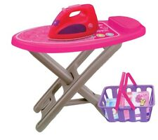 GIRLS PINK MY FIRST IRONING BOARD SET ROLE PLAY PRETEND HOUSEWORK TOY 760