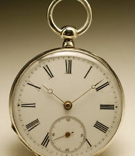 Montre ancienne gousset en ARGENT circa 1860 silver pocket watch