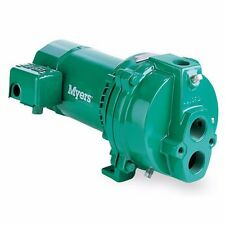 Fe Myers HJ100D Convertible Deep Well Jet Pumps, 1 HP, Cast Iron