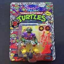 1991 TMNT TMHT Wave 4 Ninja Turtles Rock N Rollin HEAVY METAL RAPH MOC UNPUNCHED