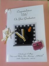 Large Handmade Personalised Graduation Card Hair & Make Up Artistry