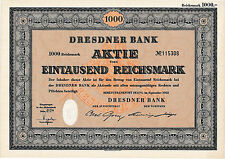 Lot 6 Dresdner Bank Berlin / Frankfurt hist. Aktie 1952 + Kupons / Commerzbank