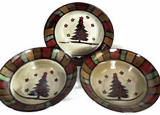 Set of 3 Soup Bowls Cuisinart Christmas Holiday Stoneware