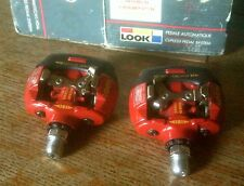 NOS 1990's LOOK S2R  RED PEDALS