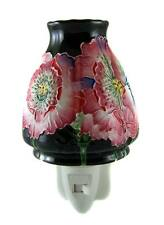 PORCELAIN OLD TUPTON WARE BLACK POPPY Night Light Wall Lamp Home Decor - NEW