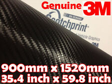 Genuine 3M Scotchprint 1080 Carbon Fibre CF12 900mm x 1520mm BLACK Vinyl Wrap