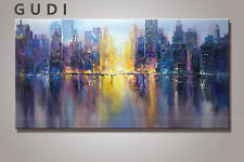 GUDI- Large modern abstract hand-painted oil painting art decoration Unframed