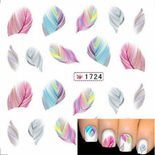 3D Nail Art Transfer Stickers Design Tips Feather Decal Full Wrap Decorations HO