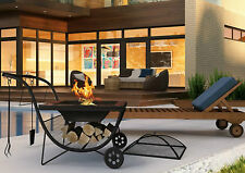 Outdoor Fire Pit Portable Fireplace BBQ Grill Garden Patio Heater Barbecue Bowl