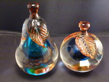 "STUNNING PAIR OF ""BARBINI"" MURANO ART GLASS FIGURAL FRUIT BOOKENDS"