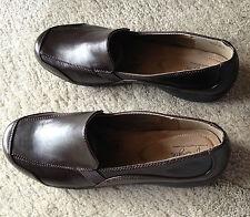 """Hush Puppies Soft Style """"Arden"""" Ladies Dark Brown Vitello Comfort Shoes 12 M"""