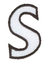 Letter S  Embroidered Iron On Alphabet Patch Applique w0019s
