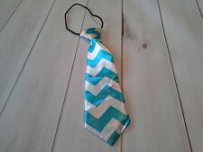 boys girls infant toddler child necktie chevron turquoise photo prop wedding