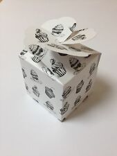 LARGE cup cake muffin boxes,wedding favour heart lid(pack x10)sweet box