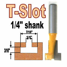 """1 pc 1/4"""" SH T-Slot & T-Track Slotting To Fit 1/4"""" Hex Bolt Router Bit  sct-888"""