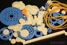 80+10 teiliges Zahnrad-Set Antriebsrädchen + Antriebsgummi Kunststoff Zahnräder