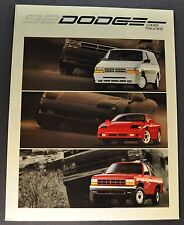 1992 Dodge Brochure Stealth Caravan Daytona Spirit Shadow Dynasty Ram Pickup