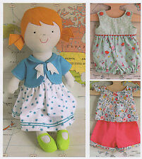 Tilly Rag Doll - Sewing Craft PATTERN - Soft Toy Felt Dolls Clothes