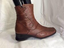 CLARKS Ladies Leather Brown Ankle Boots Size 8