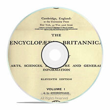 ENCYCLOPEDIA BRITANNICA, 1911 11th and 12th Edition DVD! OVER 30,000 pages DVD