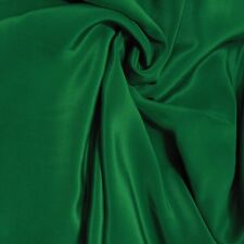 "Silk Fabric 0.5 Yards 45"" wide 12mm scdc Pure Silk Crepe De Chine Forest Green"