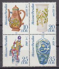 DDR East Germany 1982 ** Mi.2667/70 Meissener Porzellan | Meissen Porcelain
