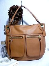 FOSSIL New! Beautiful Large Leather Tan Shoulder/Tote Bag wtih Tag & Dust Bag