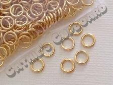 **SALE** 200 x THICK AND STRONG Gold Plated Open Jump Rings 6mm Jewellery Craft