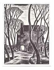 """Original Meryl Watts """"Signed"""" Entrance To Portmeirion Postcard U/P c1950/60s"""