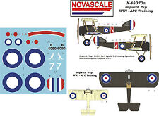 AFC Sopwith Pup WWI Mini-Set Decals 1/48 Scale N48070a