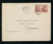 FRENCH WEST AFRICA 1938 IVORY COAST to CONGO 65c BINGER SOLO FRANKING